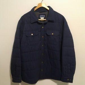 Llbean Men's Plaid Button Down Insulated Jacket XL